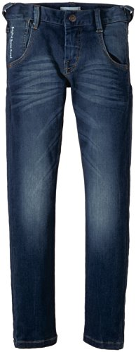 NAME IT Jungen Jeans Sammy Dark Kids DNM XSL/XSL Pant NOOS, Einfarbig, Gr. 122, Blau (Dark Blue Denim)