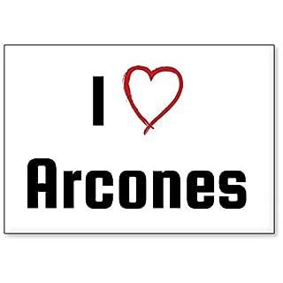 Mundus Souvenirs - I Love Arcones, fridge magnet (design 1)