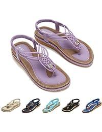3694f490f08 Amazon.fr   Violet - Sandales   Chaussures femme   Chaussures et Sacs