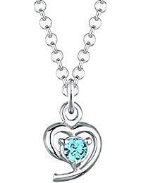 Elli Damen-Kette mit Anhänger Herz 925 Sterling Silber Swarovski Kristall blau 0109861812_45