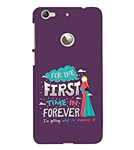 FUSON First Time Forever 3D Hard Polycarbonate Designer Back Case Cover for LeEco Le 1s :: LeEco Le 1s Eco :: LeTV 1S