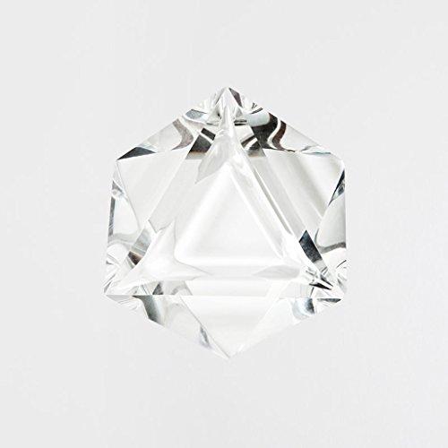 Triangolare di cristallo portacenere di vetro