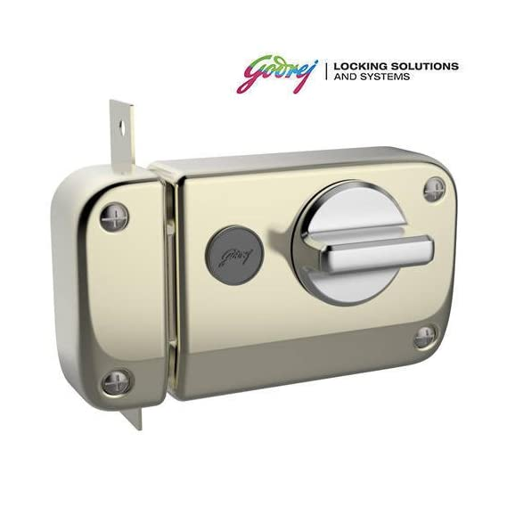 GODREJ Ultra XL+ Rim DEADBOLT 1CK 4 Keys Antique Brass (Free Installation)