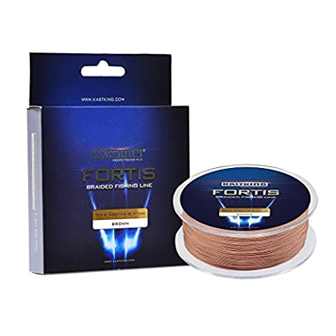 KastKing Fortis Braided Fishing Line, New Braid Line with Improved Formula, Stronger, Smoother, Fade Resistant (Backwater Brown,