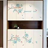 Yzybz Blaue Rose Wandtattoo Aufkleber Home Decor Diy Abnehmbare Art Vinyl Wandbild Für Kühlschrank/Kinderzimmer/Schiebetür