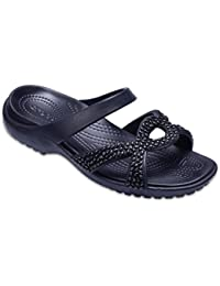 Crocs Womens Meleen Twist Diamante Sandal Black Black Sandal