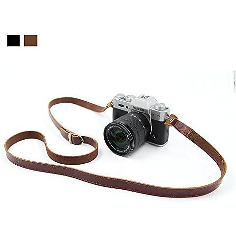 Sumgar® Cámara del hombro del cuero de la correa del cuello de la correa de la vendimia ajustable Para todas las cámaras DSLR Nikon Canon Pentax Sony