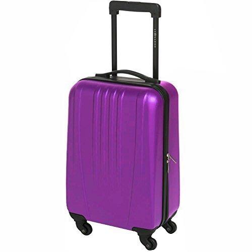 31, 5l Leonardo valigia valigia bagaglio a mano Trolley Custodia rigida bordo cellulare, Purple, 31,5l