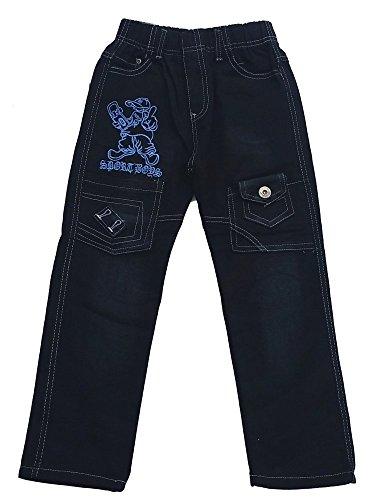 Bequeme Jeans mit rundum Gummizug, in Schwarz, Gr. 92/98, J993e