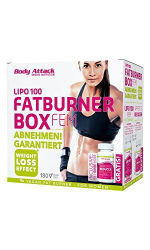 Body Attack LIPO 100 Fatburner Box FEM (LIPO 100 FEM 120 Kapseln, Appetite Reducer 60 Kapseln)