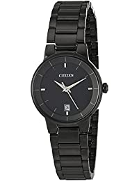 Citizen Analogue Black Dial with Date Quartz Women's Watch - EU6017-54E