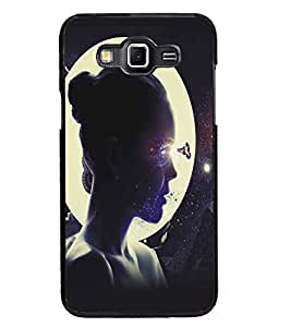 PrintDhaba Moon Girl D-5422 Back Case Cover for SAMSUNG GALAXY GRAND 3 (Multi-Coloured)