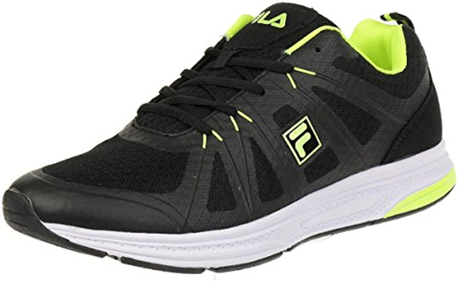 Fila Colt Low Run Men Running Trainers Sneakers Fitness Black, tamaño de Zapato:EUR 46