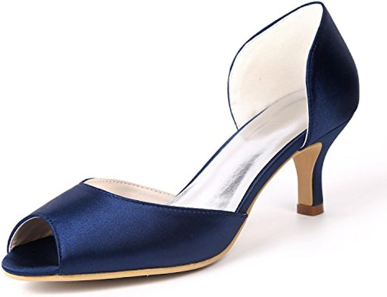 Qingchunhuangtang@ Zapatos de novia zapatos singles femeninos/pescado/boquilla Satin Satin Bridesmaid Zapatos...
