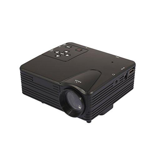 Duoying LED-Projektor (2018 aktualisiert), HD 1080P Projektor, Ideal für Heim-Multimedia-Theater Entertainment-Projektor, 3-Scheiben-Glaslinse.