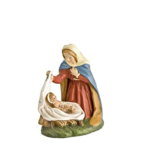 Mary with Baby Jesus in cloth, two-part figure, for 4 in. figures