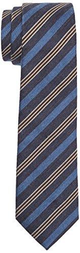 Tommy Hilfiger Tailored Herren Krawatte Tie 7cm TTSSTP16403 Blau 429, One size - Blau Diagonale Streifen-krawatte