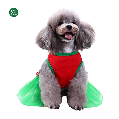 soundwinds Weihnachten Hund Kleid Cute Dog Rock Geschenk Muster Dog Dress Up Kostüme Pet Party T-Shirt Weste Kleid Kleidung Bekleidung Outfit Mantel für Small Medium Large Puppy Dog Cat Candy Green (Candy Cute Kostüme)