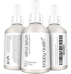 Retinol Serum by Poppy Austin® - DOUBLE SIZED 60ML - Cruelty-Free, 2.5% Retinol, Vitamin E, Hyaluronic Acid & Organic Jojoba Oil - Best Anti Ageing Serum for Face, Neck & Under Eye Wrinkles 2019
