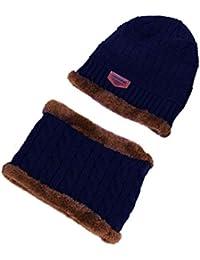 VENMO Paño De Los Hombres Y Cabeza Bufanda Del Sombrero Terciopelo Trajes (Pasta V Estándar) (Azul)