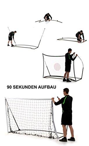 QUICKPLAY Kickster Combo 2,4 x 1,5m Fußballtor & Rebounder - 5