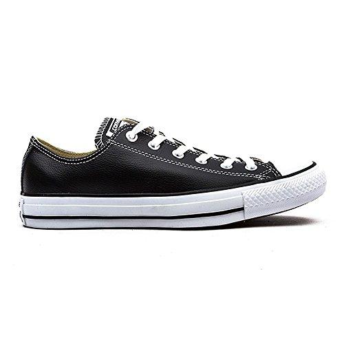 Converse Chuck Taylor Core Lea Ox, Unisex - Erwachsene Sneaker Schwarz (Nero)