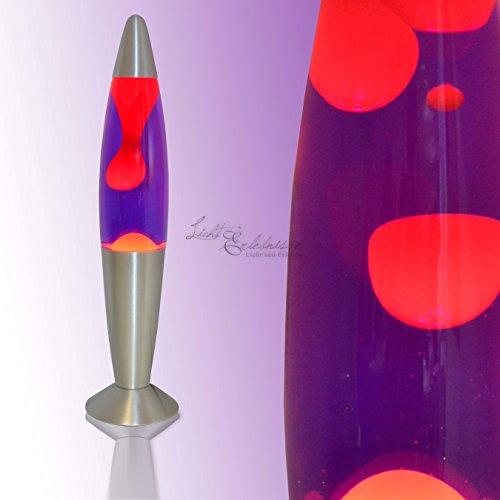 Lavalampe 35cm / rot lila/Timmy / E14 25W / mit Kabelschalter/Geschenkidee Weihnachten/inklusive Leuchtmittel/Magmaleuchte
