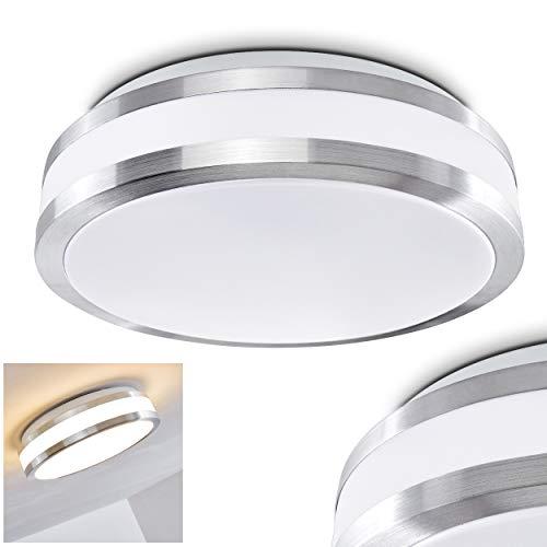 LED Deckenleuchte Sora aus Metall in einem modernen Design - Helles warmweißes Licht für das Badezimmer - Das Wohnzimmer - Die Küche oder den Flur - Deckenlampe 880 Lumen 12 Watt 3000 Kelvin