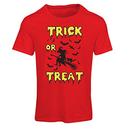 Frauen T-Shirt Trick or Treat - Halloween Witch - Party outfites - Scary Costume (XX-Large Rot Mehrfarben)