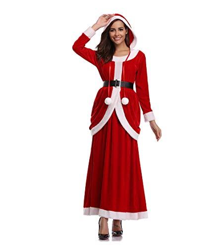 (DUBAOBAO Weihnachtskleidung für Frauen, schöne Kleider, Weihnachtsmann, Weihnachtsmann-Kostüme)