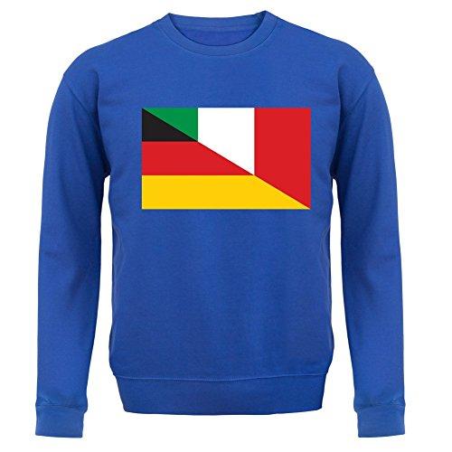 Half German Half Italian Flag - Unisex Pullover/Sweatshirt - Royalblau - XXL (Sweatshirt Italienisch-flag)