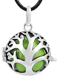 Bola colgante medallón Eudora armonía abre la jaula de plata collar de la joyería