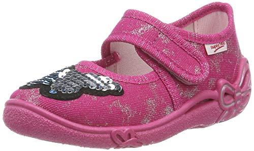 Superfit Mädchen Belinda' Hausschuhe, Rosa (Pink 55), 34 EU (Schuhe Mädchen Pailletten)