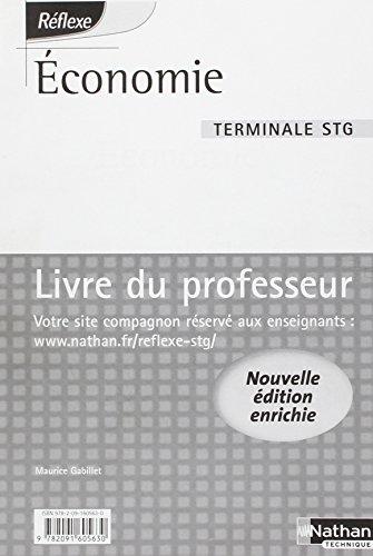Economie Tle STG : Livre du professeur par Maurice Gabillet