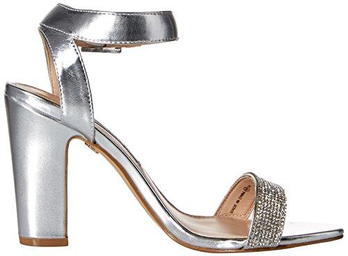 Nina Solange Femmes Synthétique Sandales Silver Metallic