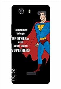 Noise Superhero-Black Printed Cover for Micromax Canvas Nitro 2 E311