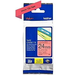 rot flexi für Brother 2470 2480 Schriftband Kassette 24mm schwarz 2500PC