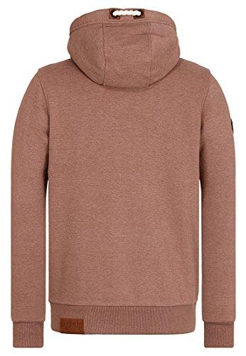 Naketano Male Zipped Jacket Schwarzkopf IV Brown Melange