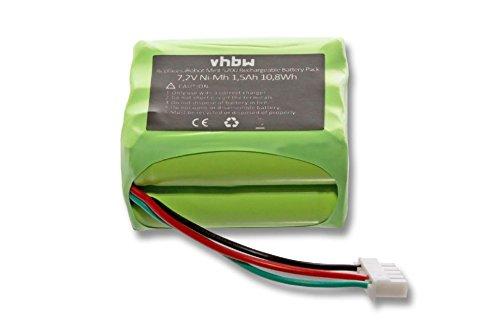 vhbw Akku passend für iRobot Mint Plus 5200, 5200c Saugroboter Home Cleaner Heimroboter (1500mAh, 7.2V, NiMH) - Mint Cleaner