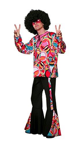 Herren Kostüm 60er Jahre Disco Popart Hippie Karneval Fasching - Disco Hippie Kostüm