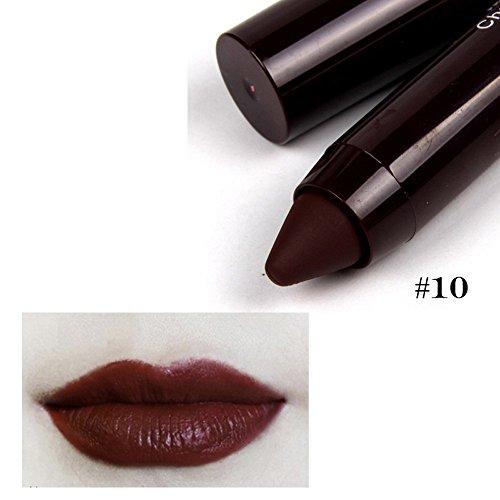 Precioul Wasserdichter und langlebiger rotierender matter Lippenstift taucht die Lippen in...