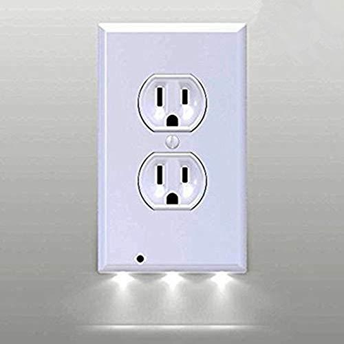 HNZZN Duplex/Decor LED Sensor Licht Night Angel LED Stecker Abdeckung Snap On Steckdose Abdeckplatte Küche Flur Notfall Sicherheitslampen -