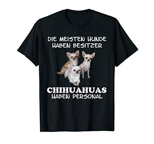 Chihuahua Shirt T-Shirt Hund Geschenk Damen Herren Personal - Chihuahua-schwarzes T-shirt