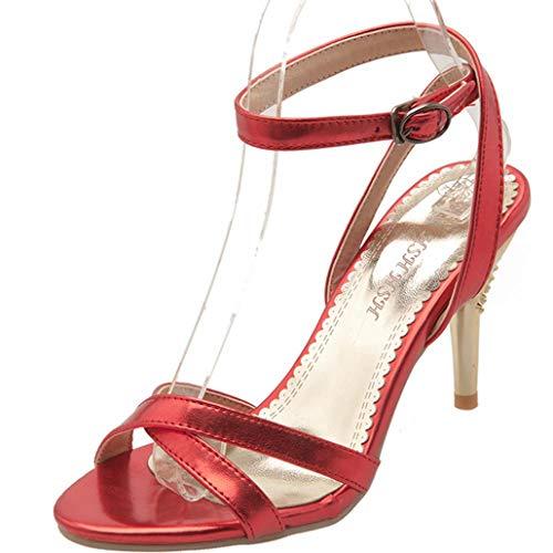e38e4798 Sandalias de tacón Alto Zapatos de Gladiador de Verano para Mujer Dedo  Abierto para Mujer Delgado
