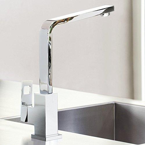 Grohe – Eurocube Küchenarmatur, Schwenkbereich 360°, hoher Auslauf, Chrom - 8