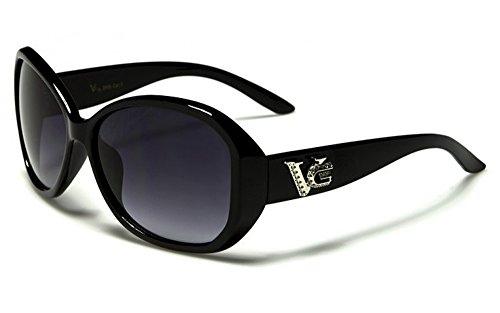 Occhiali da Sole VG - Moda - Stile - Fashion - Glamour - Moto - Sci - Spiaggia / Mod. Luna Nero