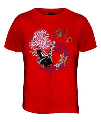 CandyMix Westindische Inseln Cricket Herren T Shirt Rot