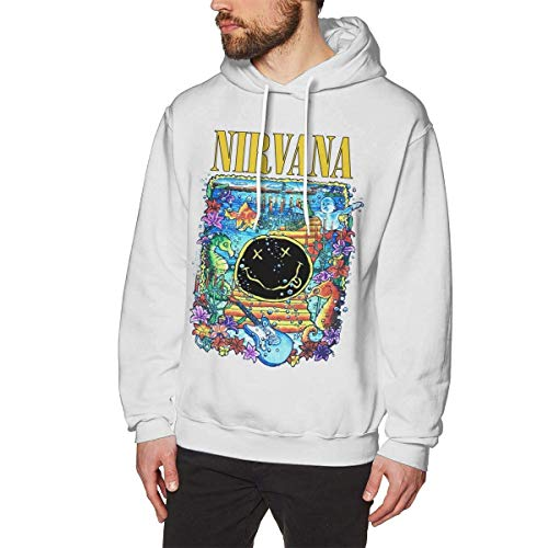 PingXianYuLinBanGongYon Sudadera con Capucha Sudadera para Hombre Nirvana Smiley Under The Sea Sudadera para Exterior