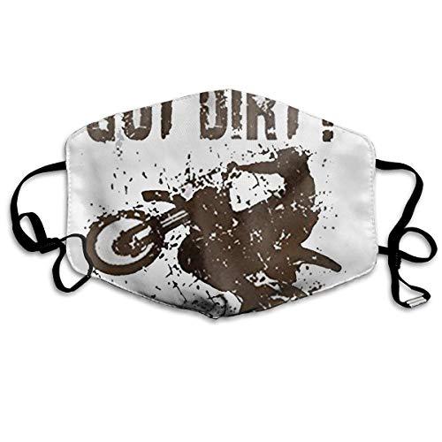 Daawqee Masques, Got Dirt Bike Motorcross Racing.jpg Breathe Healthy Face Mask for Dust, Allergy & Flu; Adjustable Ear Loops, Washable Antimicrobial