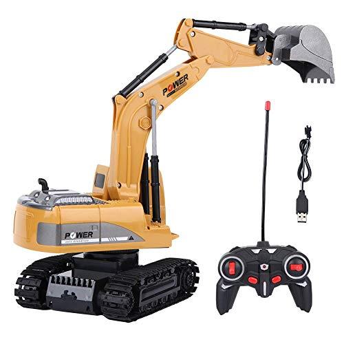RC Auto kaufen Kettenfahrzeug Bild: Fernbedienung Bagger, 2,4 GHz 6 Kanäle Fernbedienung Bagger LKW 1/24 RC Engineering Auto Baufahrzeug Spielzeug Geschenk für Kinder*